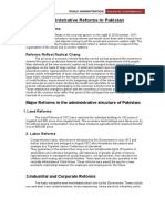 Administrated structure of pakistan