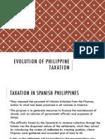 Evolution of Philippine Taxation