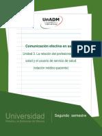 Unidad3.Larelaciondelprofesionaldelasaludyelusuariodeserviciodesaludrelacionmedico-paciente