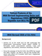 RA 9184 and its IRR revised 2016