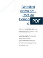 Ginastica Intima PDF - Rota Do Pompoarismo