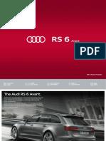 Audi Rs6 Avant Brochure 2018 v2 Uk