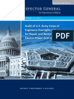 Audit of U.S. Army Corps of Engineers Oversight of Contracts for Repair and Restoration of the Electric Power Grid in Puerto Rico