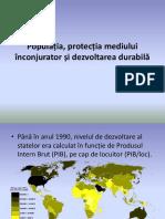 Populatia, Protectia mediului si dezvoltarea durabila