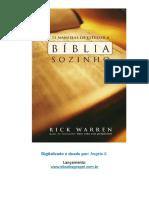 12 maneiras de estudar a bíblia sozinho - Rick Warrem