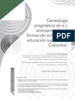 Genealogía pragmática de sí y antropotécnicas