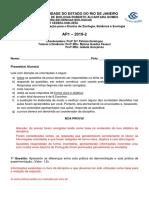 Ap1 Izbe 2019 2 Gabarito