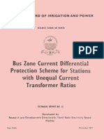 Bus differential protection scheme