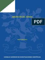 Pedro Cobo Parra - Absorción del sonido