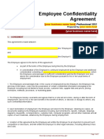 _Employee Confidentiality Agreement