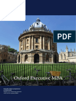 Oxford Executive Mba Brochure