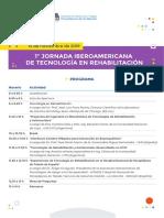 Programa de la 1° Jornada Iberoamericana de Tecnologías en Rehabilitación