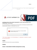 AutoCAD 2018_ the License Manager is Not Functioning or is Improperly Installed