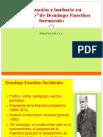 Apunte Civilizacion y Barbarie en Facundo de Domingo Sarmiento