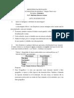 Exercícios resolvidos de estatística UFRA