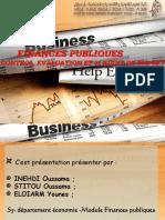 FINANCES PUBLIQUES ; CONTROL, EVALUATION ET et AUDIT DE BUDGET