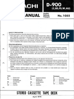 Hitachi D 900 Service Manual
