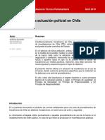 Protocolos de la actuación policial en Chile
