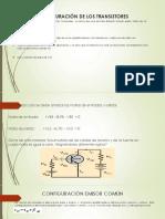 Configuración de Los Transistores