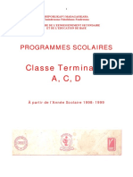 Programme Terminales