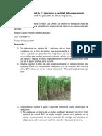 Evidencia Actividad 2 Cantidad de Forraje Mediante El Aforo de Praderas