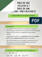 Mech 114- Statics of Solid Mechanics, Equilibrium-1