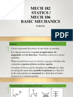Mech 114-Statics of Solid Mechanics, Forces