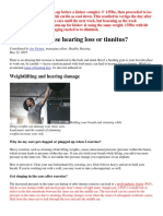 Tinnitus Hearing Loss Or