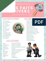 Vocabulaire Les Faits Divers Def