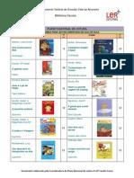 PNL - Lista de livros 1ºciclo