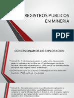 Registros Publicos en Mineria