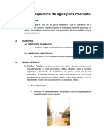 ANÁLISIS FISICOKIMICO DEL AGUA PARA CONCRETO