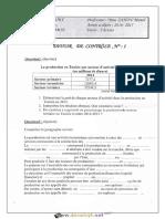 Devoir de Contrôle N°1 - Économie -  2ème Economie & Services (2016-2017) Mme Zahou Manel