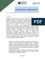 Teoría Sociopolítica y Educación