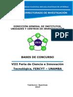 Bases Fercyt 2019