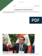 El Sueño Del Congreso Propio, Por Federico Salazar Columnistas _ El Comercio
