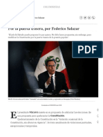 Por La Puerta Trasera, Por Federico Salazar Columnistas _ El Comercio