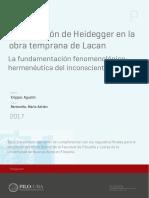 Heidegger en La Obra Temprana de Lacan