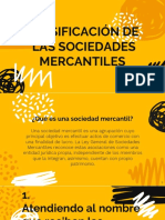 Clasificación de La Sociedades Mercantiles