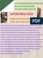 A Vontade Geral Poder de Fato e Poder de Direito (Luiz Carlos Mariano da Rosa)