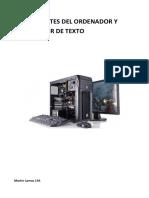 Componentes del ordenador y procesador de texto