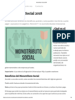 Monotributo Social 2018
