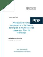 Bayarri - Adaptación de Las Empresas a La Inclusión Del Inglés en El Mundo de Los Negocios_ Plan ...