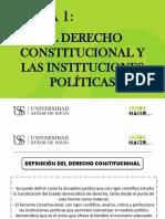 El Derecho Constitucional y Las Instituciones Politicas (2)