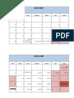 Bar Calendar