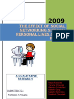 13653301 the Effect of Social Networking Sites