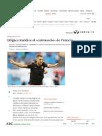 Bélgica critica el catenaccio de Francia