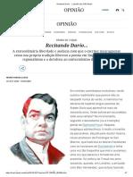 Recitando Darío… _ Opinião _ EL PAÍS Brasil