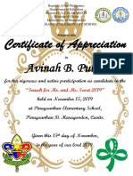 Certificate of appreciation (Editable) 5R size
