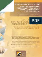 Cultura libre y software libre